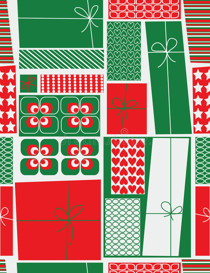 Christmas gift boxes stock illustration