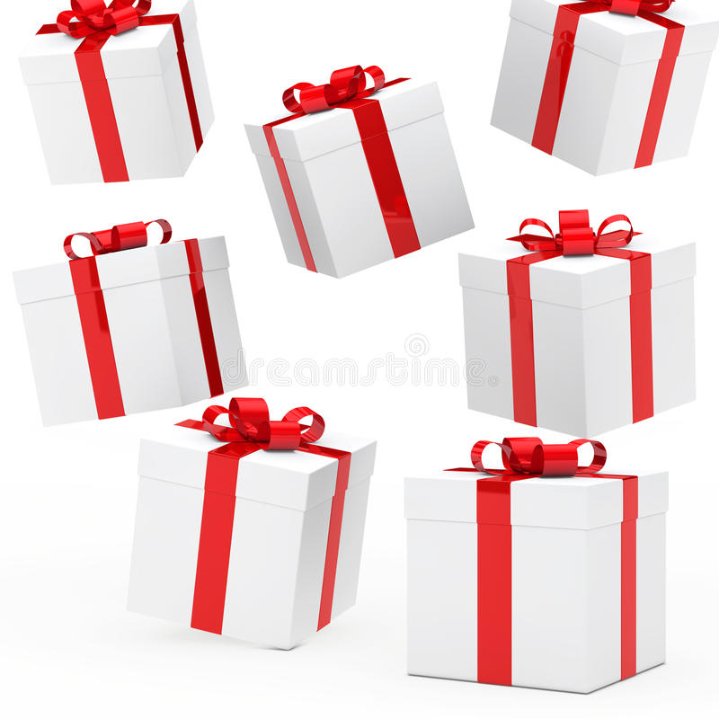 Christmas gift boxes royalty free illustration