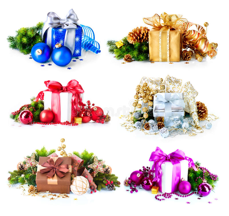 Free Christmas Gift Boxes Stock Image - 28173901