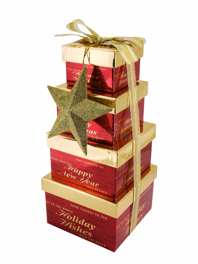 Download Christmas Gift Boxes stock photo. Image of ribbon, stacked - 3629980