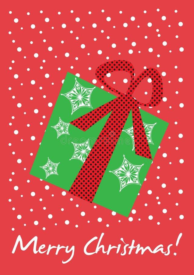 Christmas gift card stock illustration