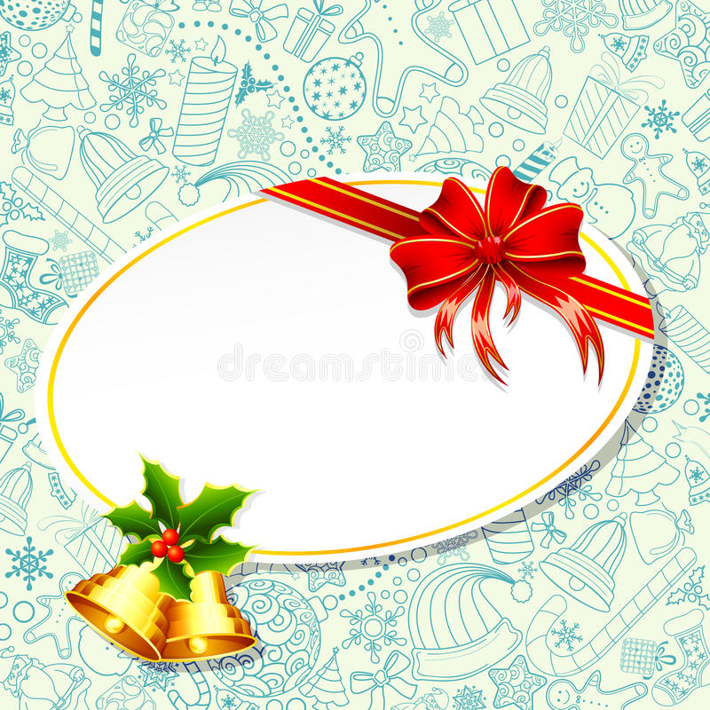 Christmas Gift Card vector illustration