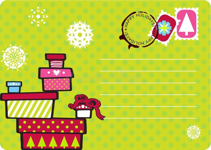 Christmas Gift Card Royalty Free Stock Image