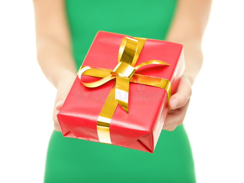 Download Christmas gift closeup stock photo. Image of gift, holding - 27820756