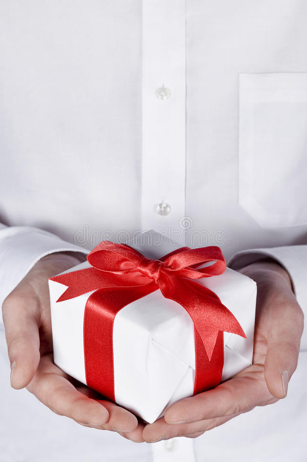 Download Christmas gift giving stock image. Image of person, male - 22134237