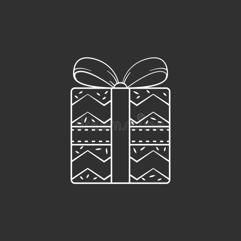 Christmas gift icon. stock photo