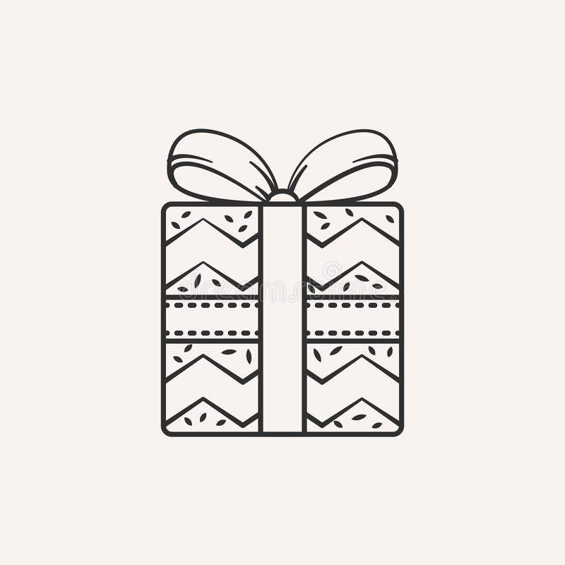 Christmas gift icon. stock photos