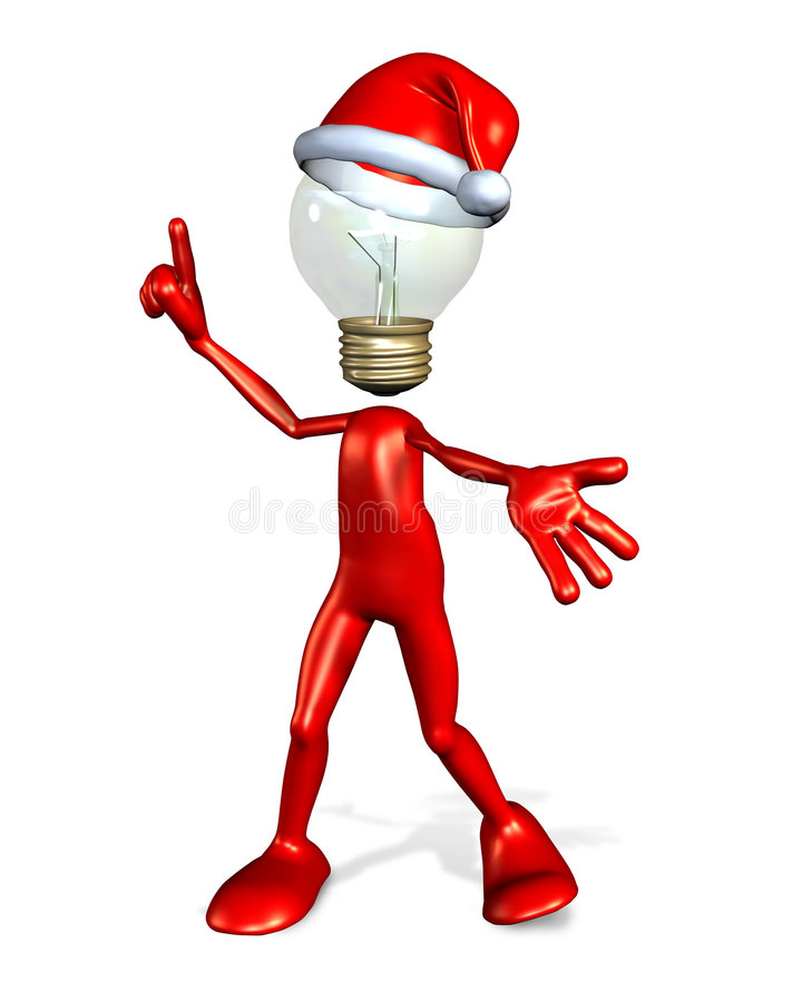 Christmas Gift Idea Guy stock photography