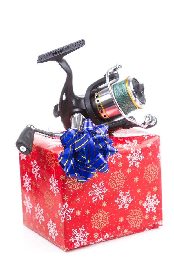 Free Christmas Gift In Box For Fishers Stock Image - 62378401