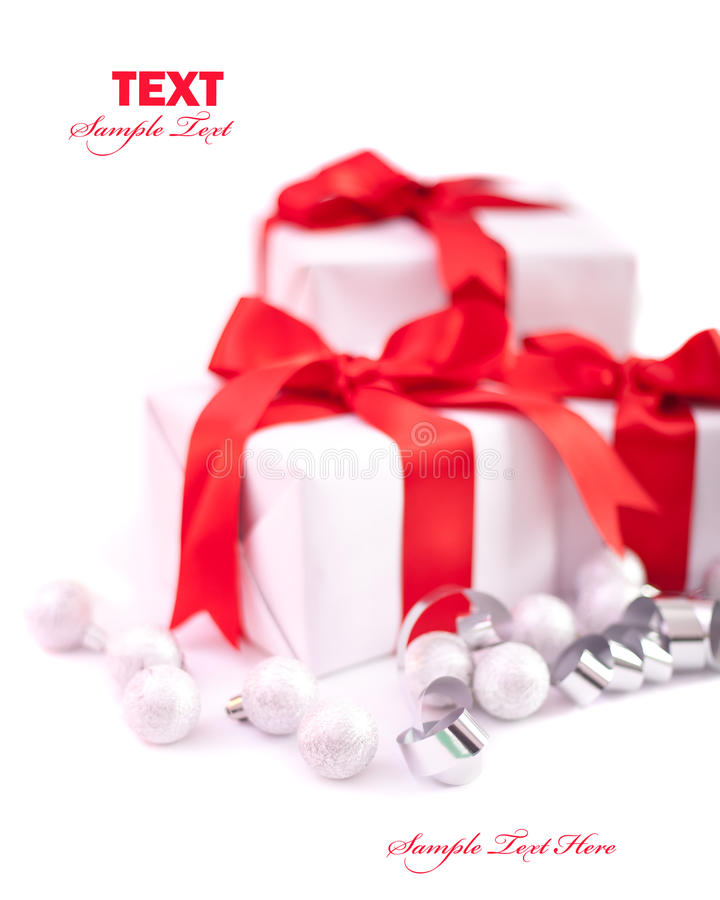 Christmas gift isolated royalty free stock photos