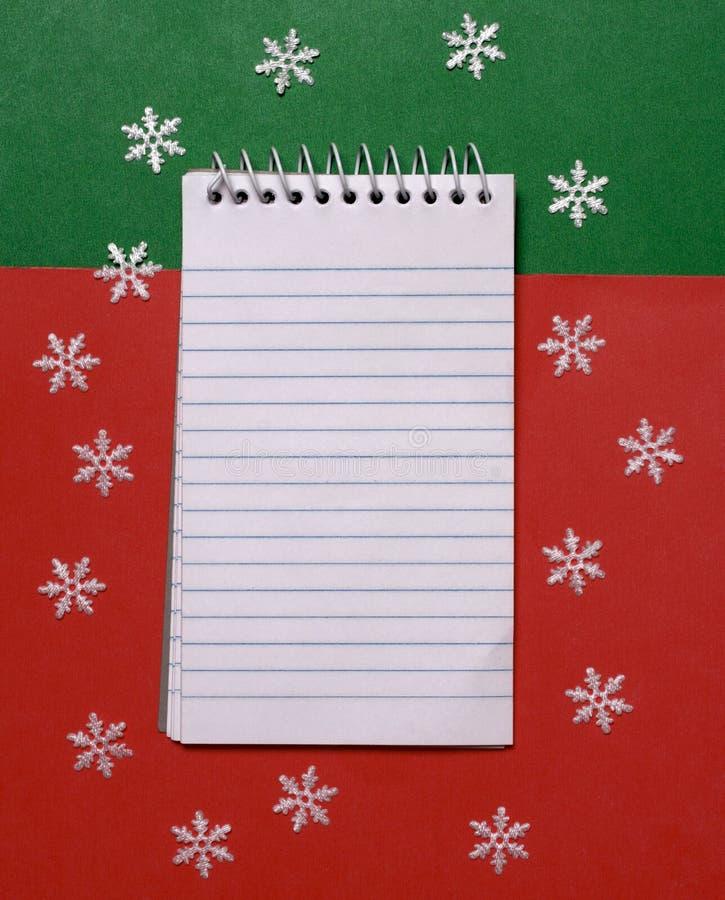 Christmas Gift List Stock Photo