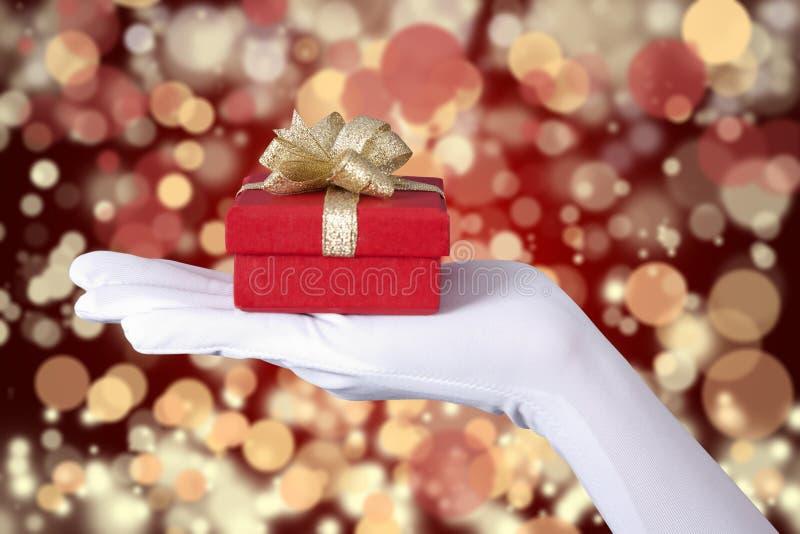 Download Christmas Gift Over Defocused Light Stock Image - Image: 26721655