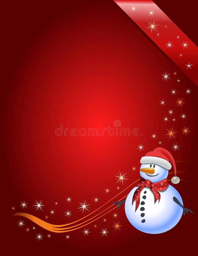 Christmas Gift page, vector royalty free stock photography