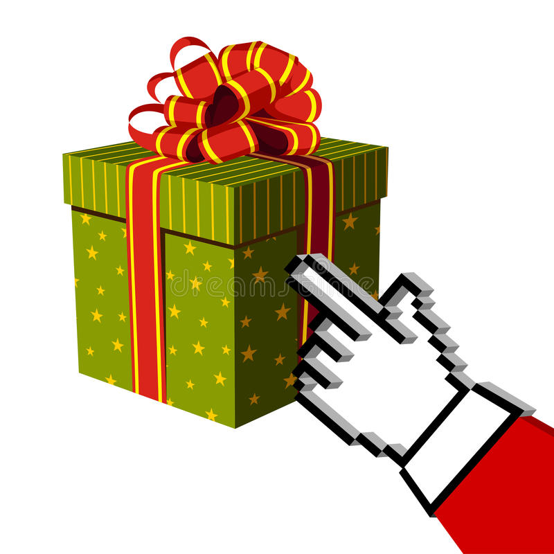 Download Christmas Gift And Santa Buying Online Royalty Free Stock Images - Image: 11655179