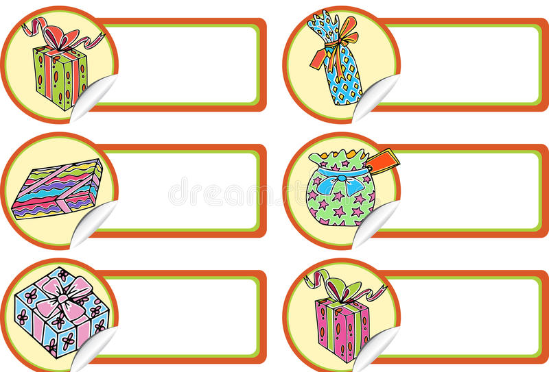 Christmas Gift Tags - Presents stock illustration