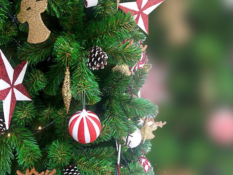 CharacterChristmas gift and tree on a white. royalty free stock photography