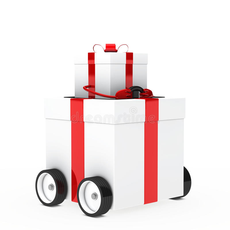 Download Christmas gift vehicle stock illustration. Image of delivery - 25196021