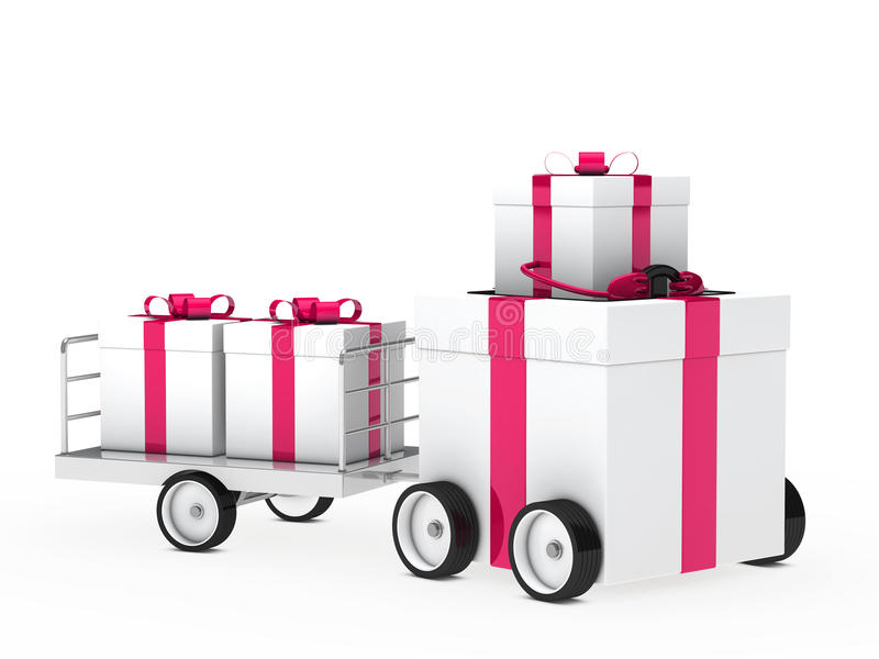 Download Christmas Gift Vehicle Royalty Free Stock Images - Image: 25927369