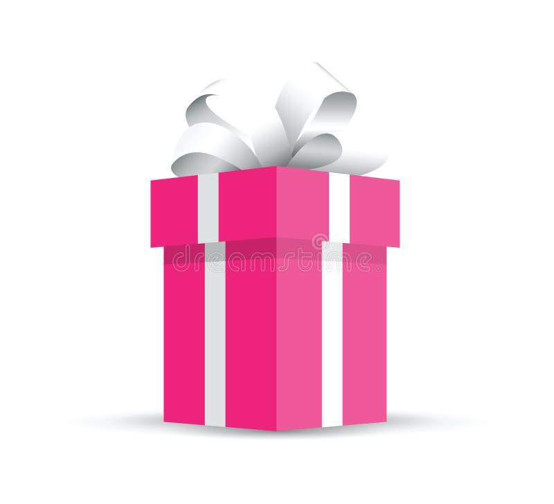 christmas gift white бесплатная иллюстрация
