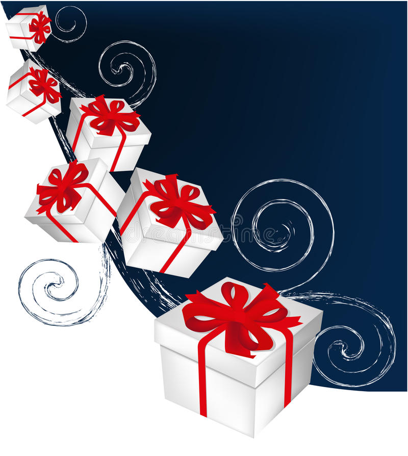 Christmas gifts royalty free illustration