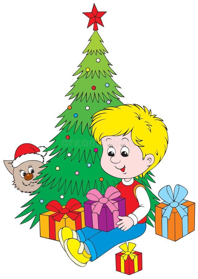 Christmas gifts vector illustration