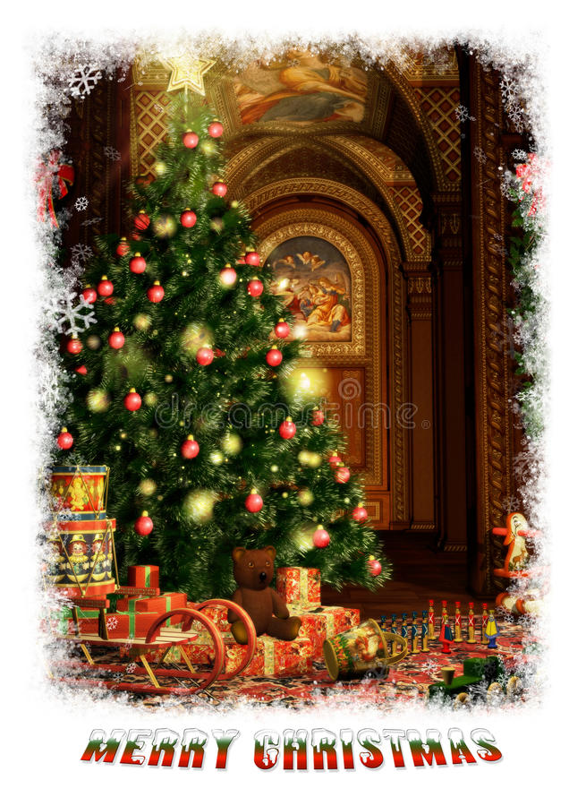 Christmas Gifts, 3d CG royalty free illustration