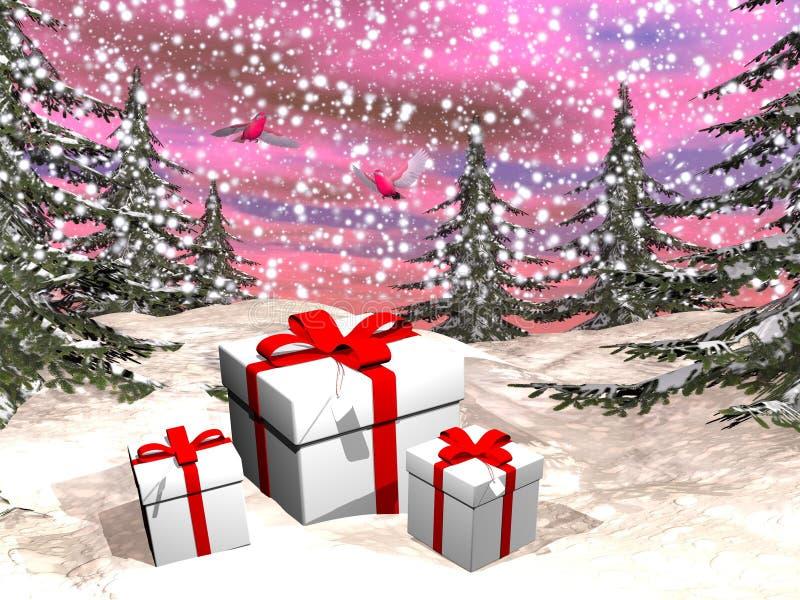 Christmas gifts - 3D render vector illustration
