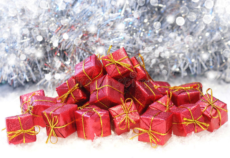 Download Christmas gifts in snow stock image. Image of festive - 22101023