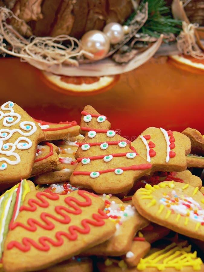 Christmas ginger cakes royalty free stock photo