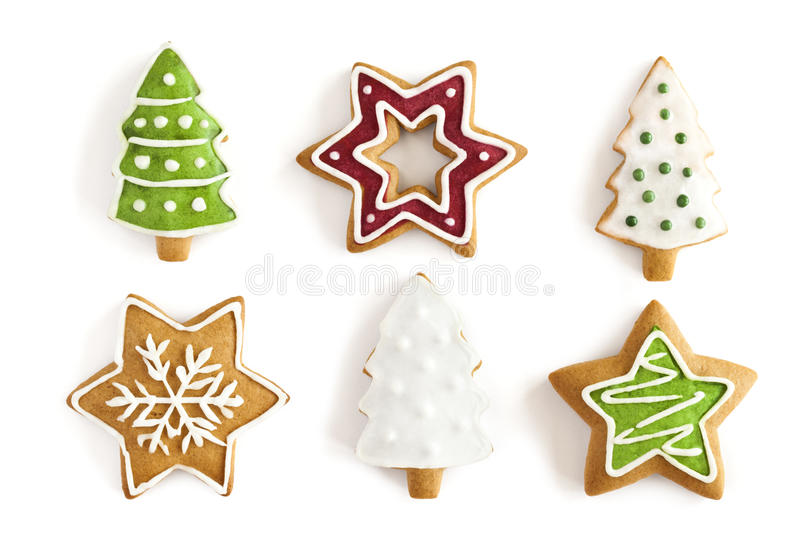 Christmas Ginger cookies. background royalty free stock photo