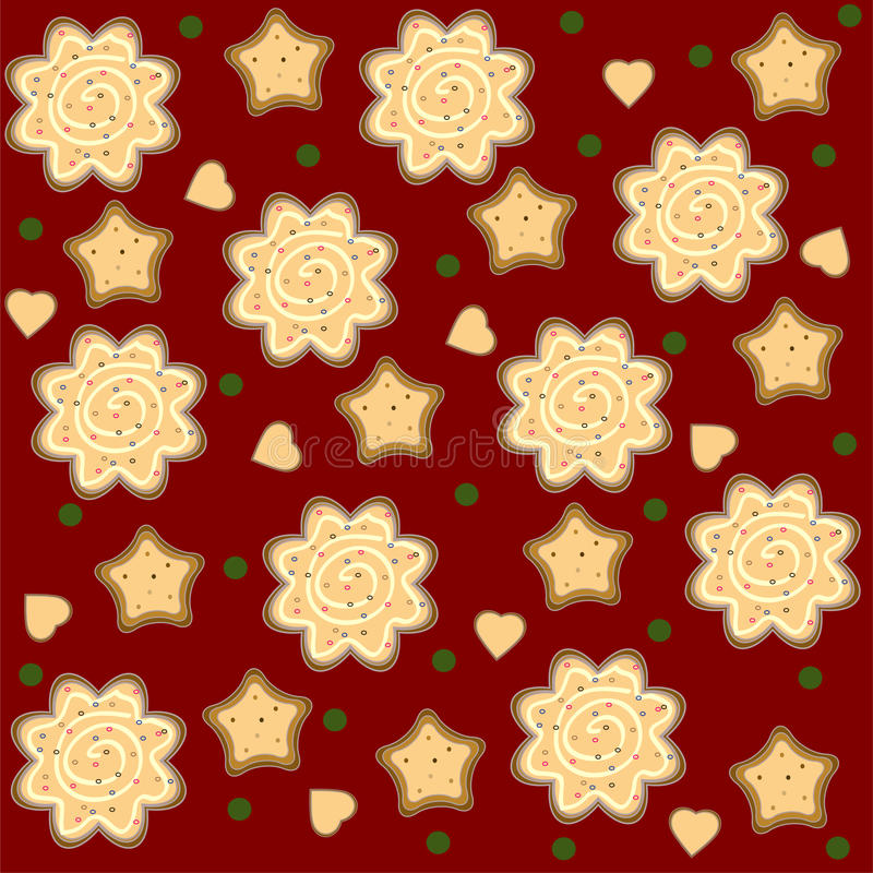 Christmas Ginger Seamless Pattern Vector Royalty Free Stock Image