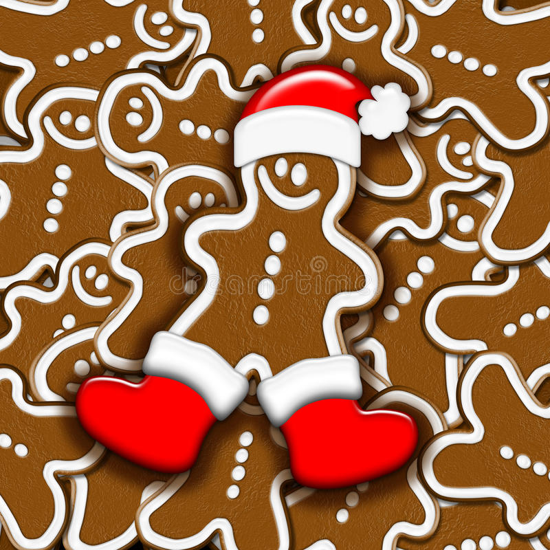Download Christmas Gingerbread stock illustration. Image of wishes - 11449539