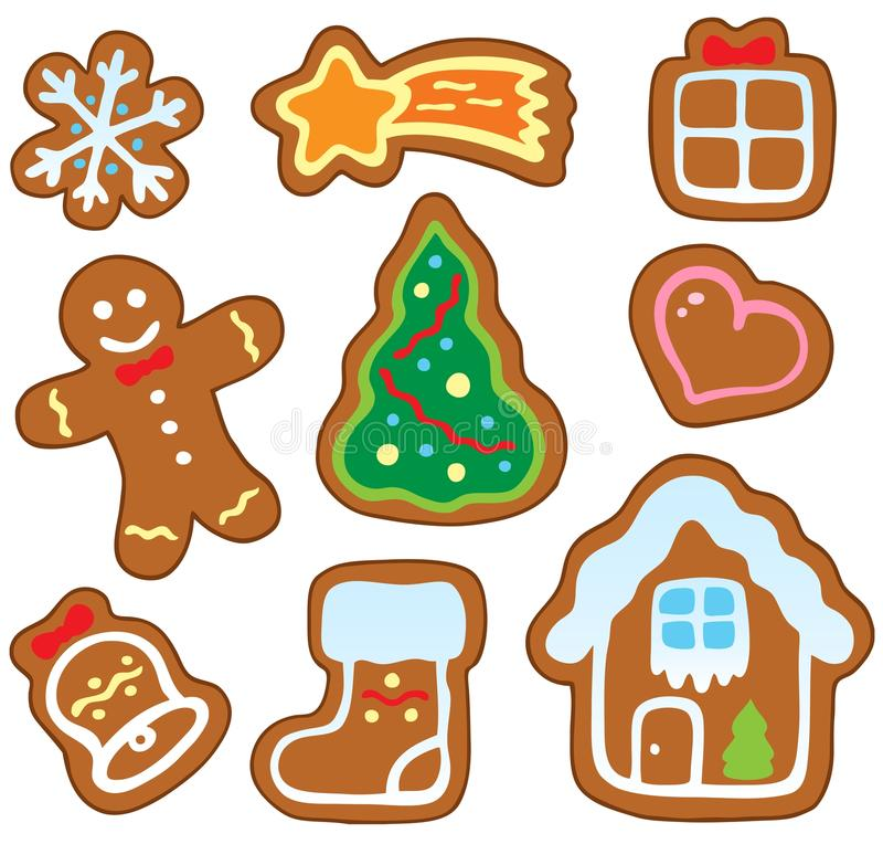 Free Christmas Gingerbread Collection 1 Royalty Free Stock Image - 22232246
