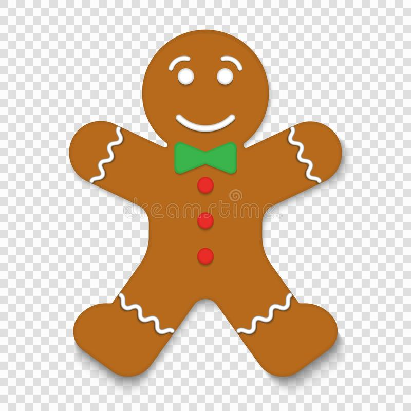 Christmas gingerbread man cookie royalty free illustration