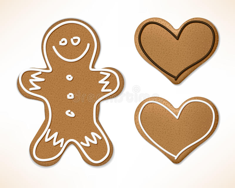 Download Christmas gingerbreads stock vector. Image of food, card - 11676185