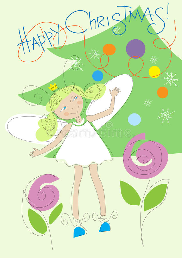 Christmas_girl royalty illustrazione gratis