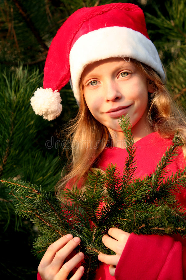 Download Christmas girl stock image. Image of childhood, december - 1610607