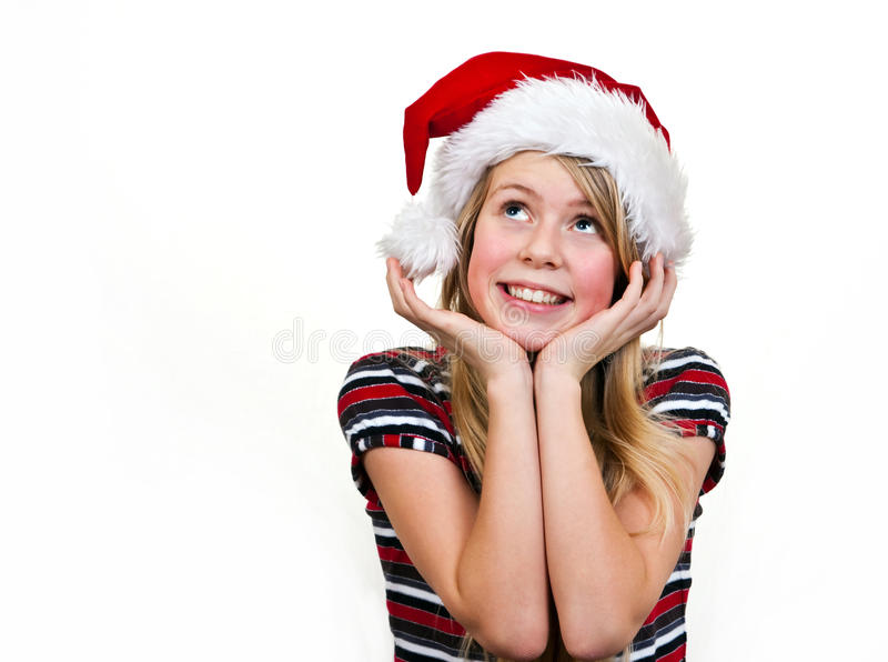 Download Christmas girl stock photo. Image of cute, portrait, color - 16115780