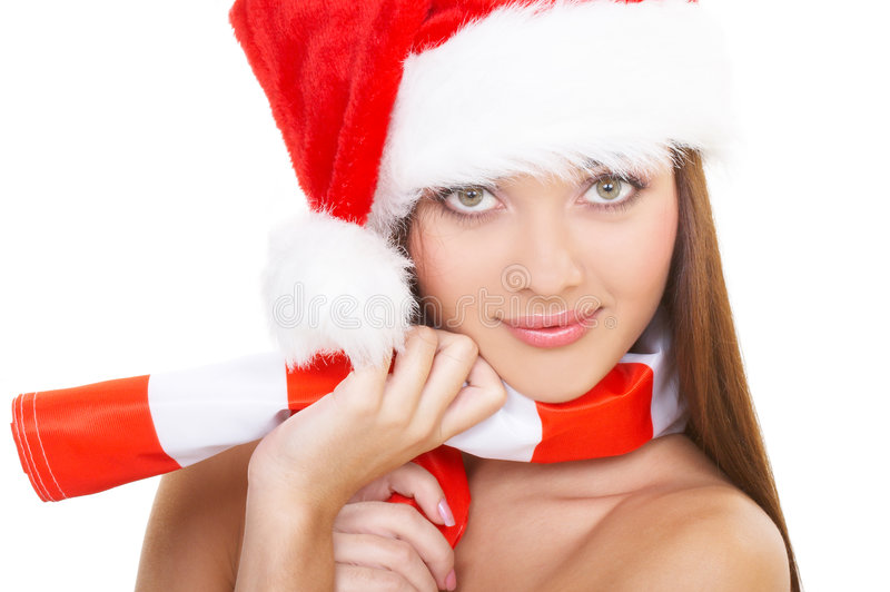 Download The christmas girl stock photo. Image of beauty, holiday - 1680718