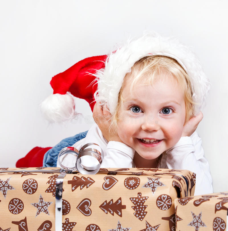 Download Christmas girl stock image. Image of color, happy, natural - 16975437