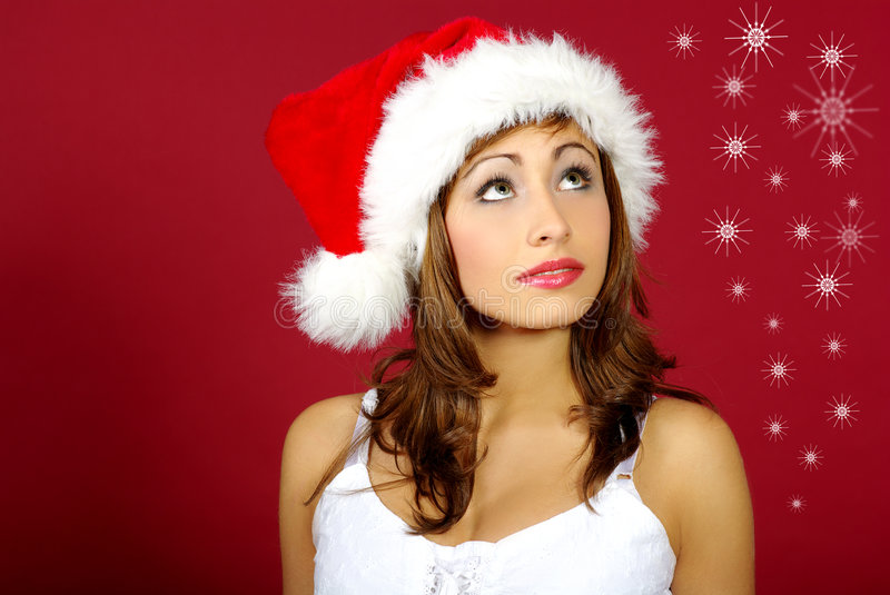 Download Christmas girl stock photo. Image of clause, female, beauty - 3537878