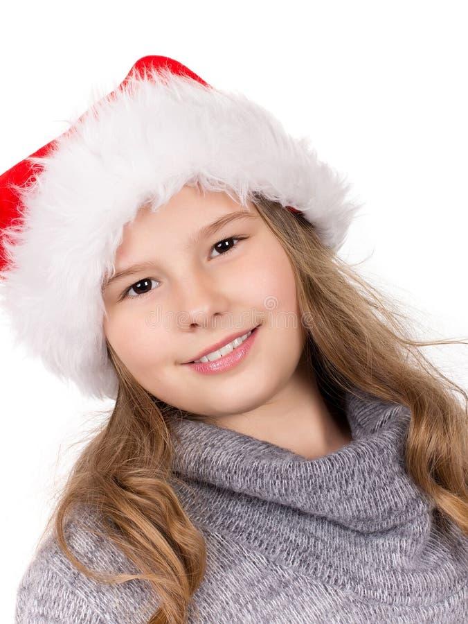 Christmas Girl Portrait. stock image