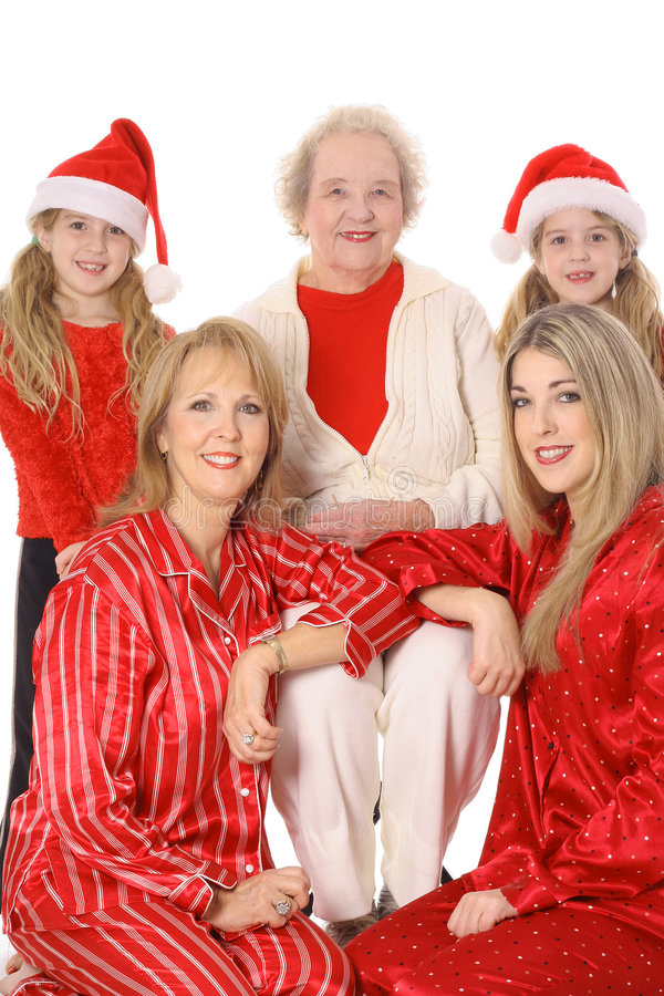 Download Christmas With The Girls Vertical Stock Photo - Image: 4015066