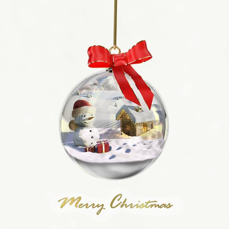 Download Christmas glass ball stock illustration. Image of light - 16826741