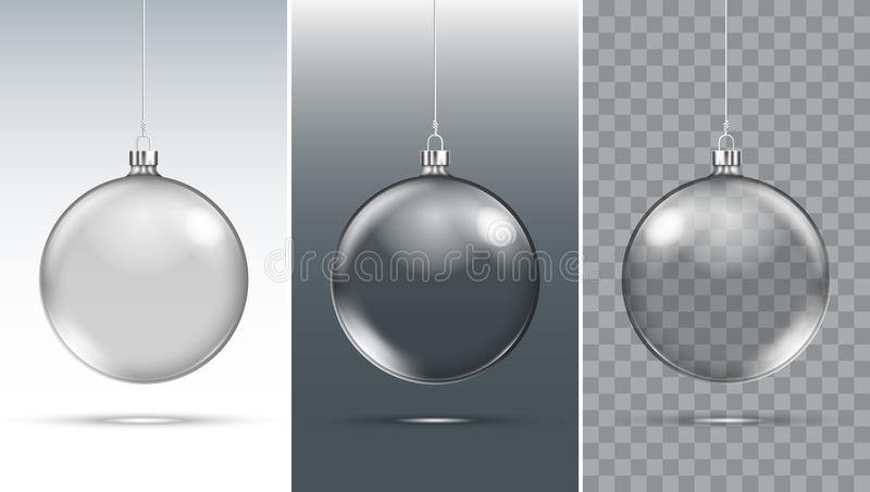 Christmas Glass Ball. Xmas Decoration stock illustration