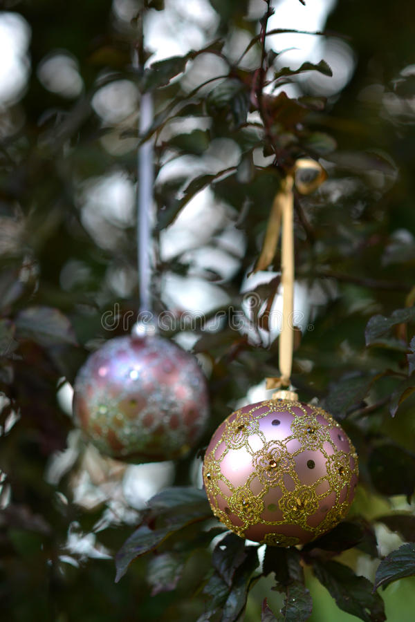 Download Christmas Glass Baubles Stock Photo - Image: 82502785