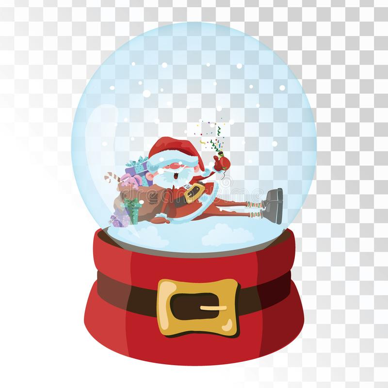 Christmas glass magic ball with santa claus transparent glass download christmas glass magic ball with santa claus transparent glass sphere with snowflakes vector m4hsunfo