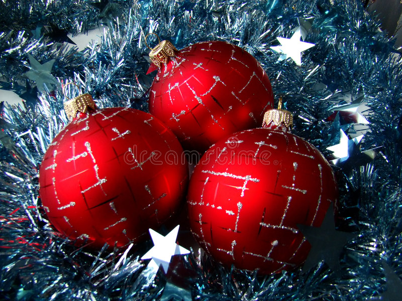 Christmas Glass Sphere Stock Photography