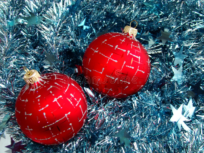 Download Christmas glass sphere stock image. Image of blue, holly - 7093415