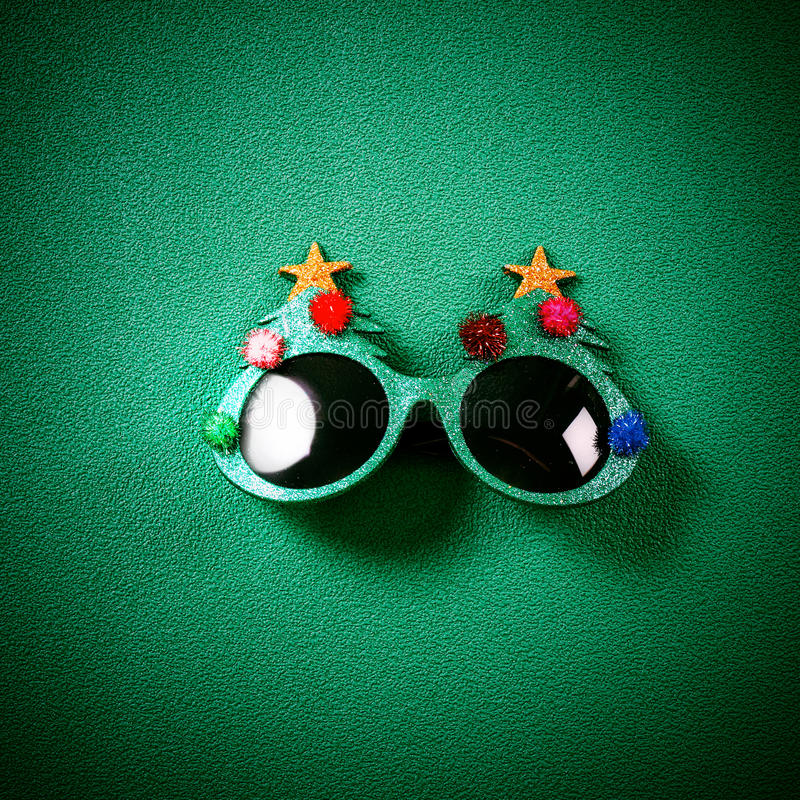 Free Christmas Glasses That Decoration With Christmas Tree And Red Ba Royalty Free Stock Photo - 95528975